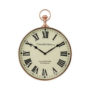 8984-014 Polished Copper Wall Clock