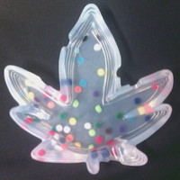 Polka Dot Clear Leaf Lovers Silicone Ashtray