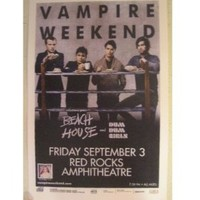 Vampire Weekend Poster Concert Gig Band Shot Red Rocks