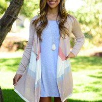 Between the Lines Cardigan - Blush