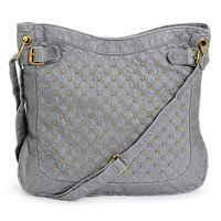 T-Shirt & Jeans Grey Studded Faux Leather Tote Bag at Zumiez : PDP