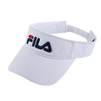 FILA Fashion New Embroidery Letter Women Men Hollow Sun Protection Cap Hat White