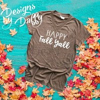 Happy Fall Y'all Tshirt - Happy Fall Tee | Thanksgiving | Fun Tee | Statement Tee | Mom | Bella Canvas Tee