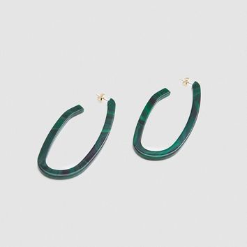 Rachel Comey / Maya Earrings in Malachite