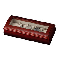 Mele & Co. Emery Glass Top Wooden Watch Box in Cherry