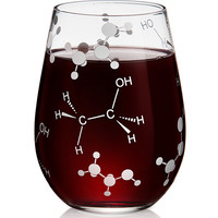 Ethanol Stemless Wine Glass