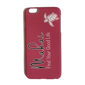 Coral Good Life iPhone Case