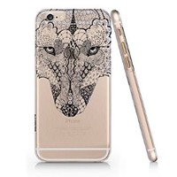 Wolf Pattern Henna Iphone 6 case, Iphone 6 Case Slim White Cover Skin (4.7'' Screen) (LA003)
