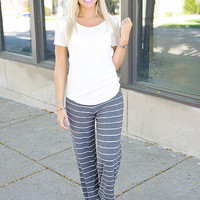 Always On Time Striped Pant
