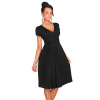 Sexy V-Neck Maternity Stretchy Tunic Office OL Dress