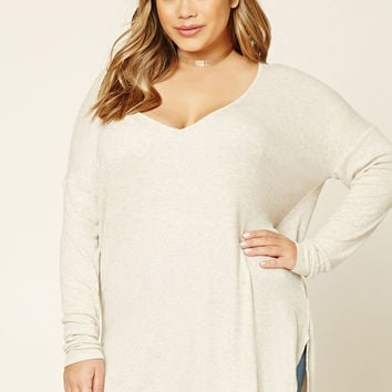 Plus Size Dolphin Hem Top
