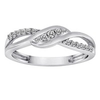 10k White Gold Diamond Ring (1/6 cttw, H-I Color, I1-I2 Clarity)