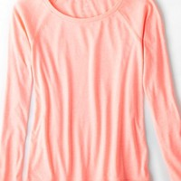 AEO Women's Long Sleeve Favorite Raglan T-shirt