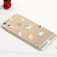 Kitty Cat Case TPU Cover for iphone 7 7 Plus & iphone 6 6s Plus & iphone se 5s + Gift Box