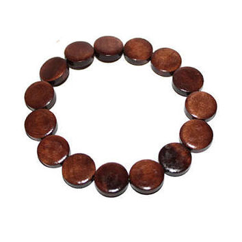 Wood Bracelet, Wooden Bracelet For Men, Mens Beaded Bracelet, Brown Wood Bracelet