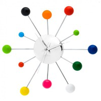 Online Interior Design | <p>Injecting bold lavish shades to the interior walls in the shape of different sized chrome-plated arms each offering a bold and striking colour that represents the hour mark, the Spider Mixed Wall Clock from Karlsson offers a mod