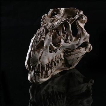 Skull Skulls Halloween Fall Newest Tyrannosaurus Rex dinosaur Resin Fossil  Model Collectibles 15*11.5*8cm light color Calavera