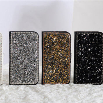 handmade bling samsung galaxy galaxy s5 s4 s3 case note 4 note 3 note 2 wallet , rhinestone iphone 6 6 plus iphone 5s case