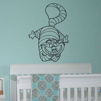 Alice In Wonderland Wall Decal Vinyl Sticker  Cheshire Cat Decal Wall Art  Home Decor  Part 70