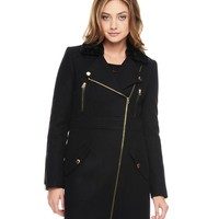 Wool Melton Coat by Juicy Couture