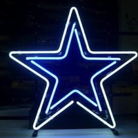 "Dallas Cowboys 15"" x 14"" Star Neon/LED Lighted Pub Sign"