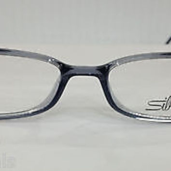 NEW AUTHENTIC SILHOUETTE SPX 1997 COL 6083 GREY SMOKE PLASTIC EYEGLASSES FRAME