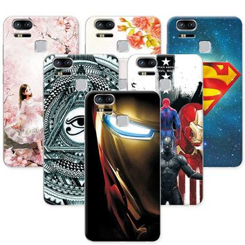 "Attractive Case For ASUS Zenfone 3 Zoom ZE553KL Super IronMan Back Cover For Zenfone 3 Zoom ZE553Kl 5.5"" Soft tpu Phone Cases"