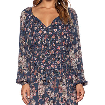 Free People Lucky Loosey Dress in Blue