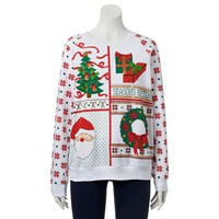 Freeze ''Seasons Greetings'' Ugly Christmas Sweatshirt - Juniors