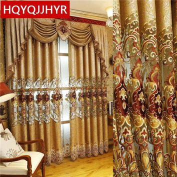 European and American Style Royal Gold Luxury curtains