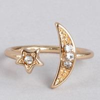 Ask For the Moon Gold Knuckle Ring