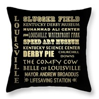 "Louisville Throw Pillow 14"" x 14"""