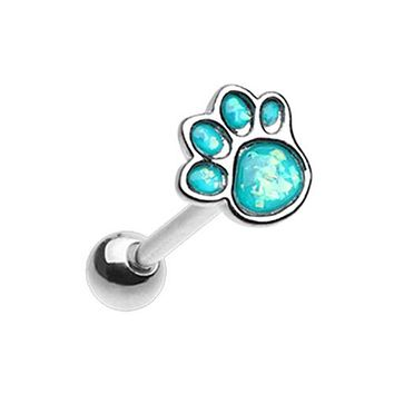Animal Lover Paw Print Barbell WildKlass Tongue Ring