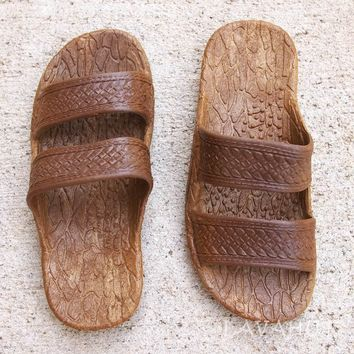 Kids Brown Jandals® - Pali Hawaii Sandals