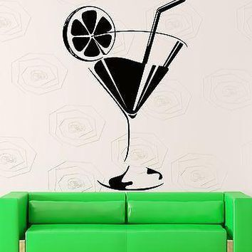 Wall Sticker Vinyl Decal Glass Of Drink Cocktail Mojito Bar Decor Unique Gift (z1023m)