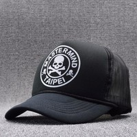 2017 Summer Skull Mesh Caps Bone Gorras Casquette Snapbacks for Men Black Hip Hop Mesh Baseball Caps Sun Hats Gorras Snapbacks