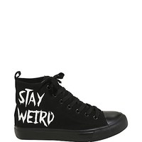 Stay Weird Hi-Top Sneakers