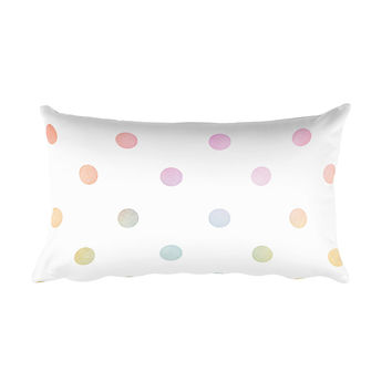 Pastel Polka Dots Rectangular Pillow