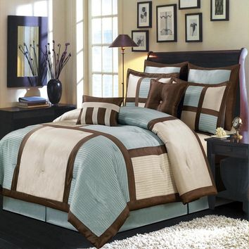 BLUE Morgan Luxury Comforter Set