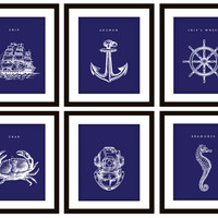 Blue Nautical Prints