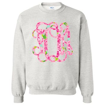 Long Sleeve Sweatshirt with Lilly Pulitzer Monogram