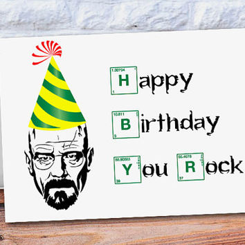 Breaking Bad Card Funny Birthday Card Happy Birthday Card Anniversary card Heisenberg birthday card Walter White customized card Paper Goods