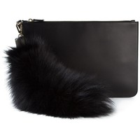 Emilio Pucci fox fur detail clutch