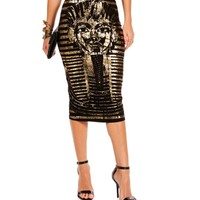 Black/Gold Egyptian Skirt