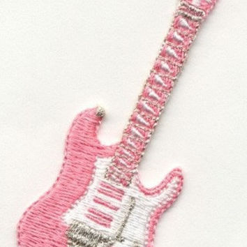 50'S GUITAR Pink Beautiful Details Iron or Sew On patch by Cedar Creek Patch Shop on Etsy