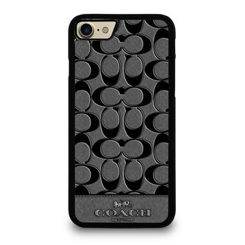 COACH NEW YORK GREY iPhone 4/4S 5/5S/SE 5C 6/6S 7 8 Plus X Case