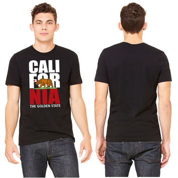 california white and red bear T-shirt