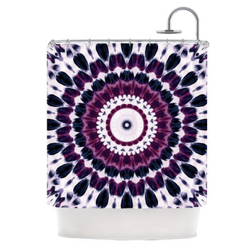 "Iris Lehnhardt ""Batik Pattern"" Purple Geometric Shower Curtain"