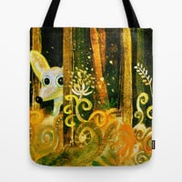 hiding in the forest Tote Bag by Marianna Tankelevich