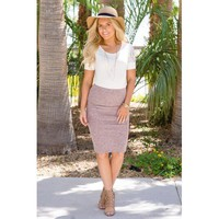 Perfect Pencil Midi Skirt - Blush - M